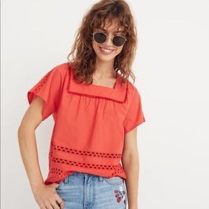 NWT Madewell Eyelet Angelica Top